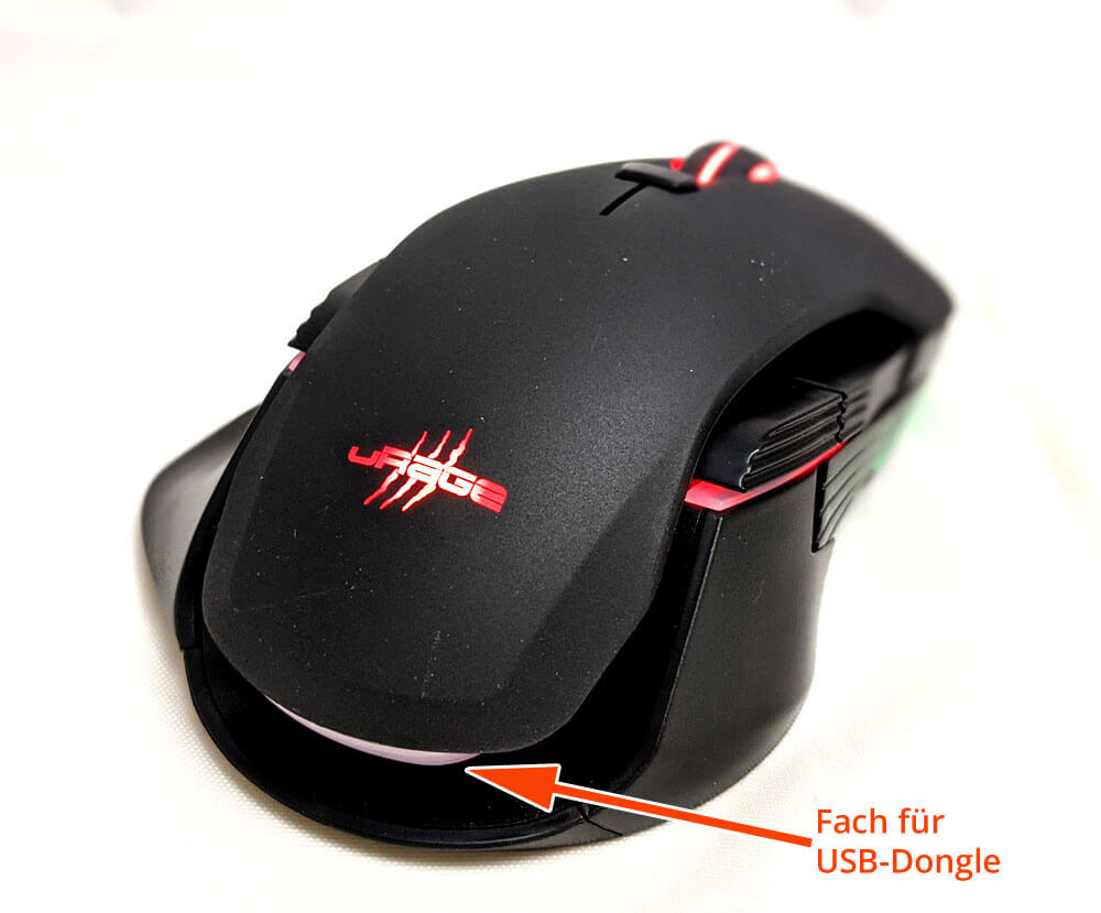uRage Gaming-Maus 1000 Morph unleashed Oben2