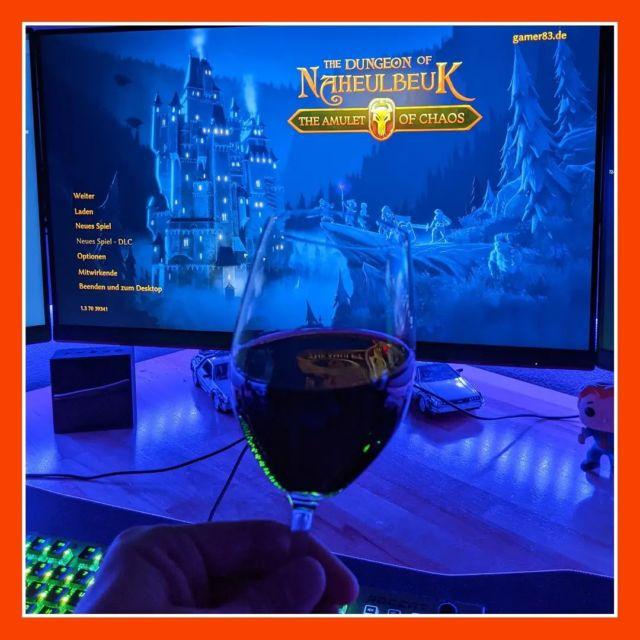 """Zocken kann auch so entspannt sein... ▫️ Ein Gläschen (2-3) Wein und humorvolles Rundentaktik wie meine neue Entdeckung """"THE DUNGEON OF NAHEULBEUK - THE AMULET OF CHAOS"""" ▫️ Schönes Bergfest wünsche ich! ▫️ ▫️ #naheulbeuk #roundbased #rundenbasiert #strategiespiel #gaming #wine #wein #pcgamer #germangamer #bergfest"""